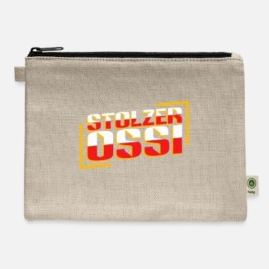 Saxony Proud Ossi Retro East German home Saxony Eastalgia - Carry All Pouch