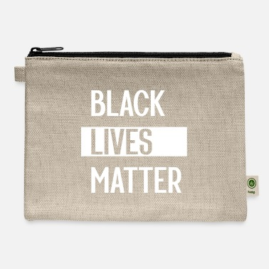 Black Simple Black Lives Matter in Black and White - Carry All Pouch