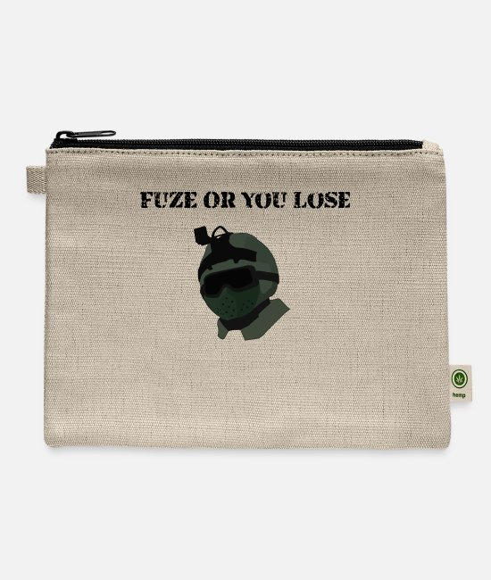 Game Bags & Backpacks - Fuze or you lose funny rainbow six siege - Carry All Pouch natural