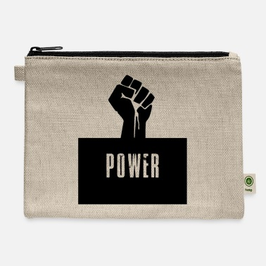 Black Power Raised Fist - Carry All Pouch
