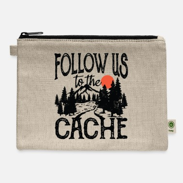 Night Cache Follow Us To The Cache - Carry All Pouch