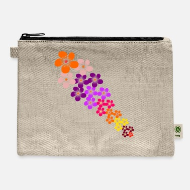 Tendril Pattern colorful flowers tendril, blooming flower, blooms - Carry All Pouch