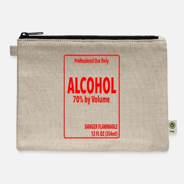 Alcohol Label - Simple DIY Halloween Costume - Carry All Pouch