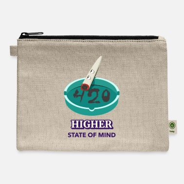 Higher State Of Higher State Of Mind 420 Funny Weed Lover Gift Can - Carry All Pouch