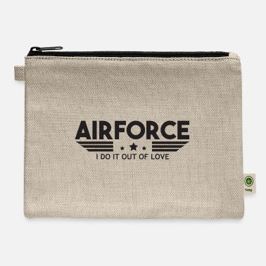 Numbered Air Force Air Force I Do It Out Of Love - Air Force - Carry All Pouch