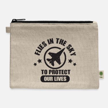 Numbered Air Force Flies In The Sky To Protect Our Lives - Air Force - Carry All Pouch