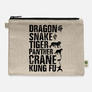 Chun Dragon Snake Tiger Panther Kung Fu Martial Arts - Carry All Pouch