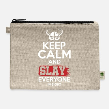 Ravens Norse Mythology Viking Workout Keep Calm and Slay - Carry All Pouch
