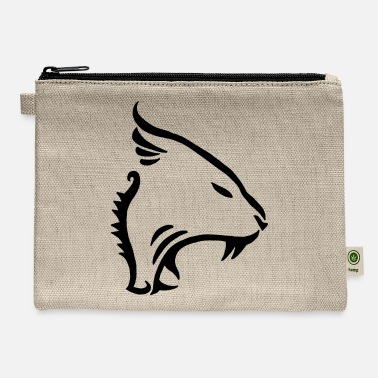 Raider Animal, cat, tiger, panther (black) - Carry All Pouch