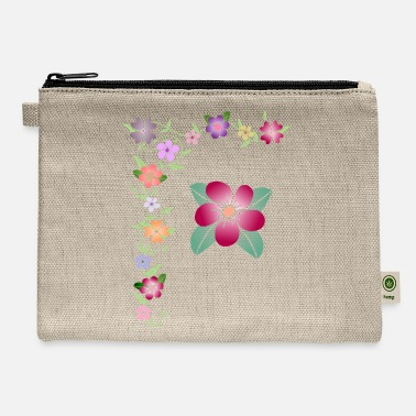 Tendril Pattern flower tendril, blooming, bloom, bunch of flowers - Carry All Pouch