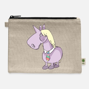 Necktie Unicorn Tie Necktie - Carry All Pouch