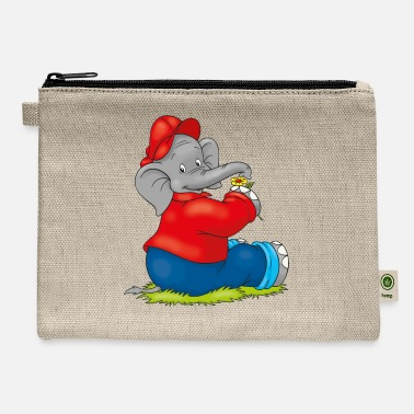 Benjamin Benjamin the Elephant with Flower - Carry All Pouch