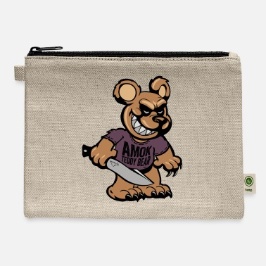 Amok BSK Amok bear front - Carry All Pouch