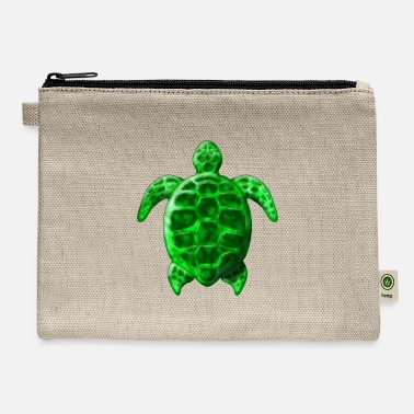 Surf Hawaiian Turtle Honu Unisex Canvas Coin Purse Wallet Coin Purse Canvas Zipper Wallet