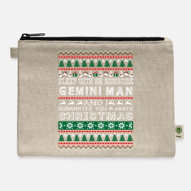 Gemini Man Sleep With Awesome Gemini Man White Christmas - Carry All Pouch