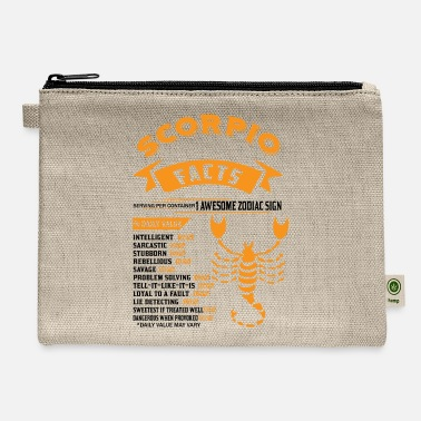 November Scorpio Facts SCORPIO FACTS - Carry All Pouch