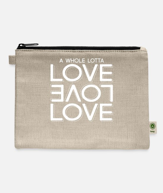 Heart Bags & Backpacks - Whole Lot Of Love - Carry All Pouch natural