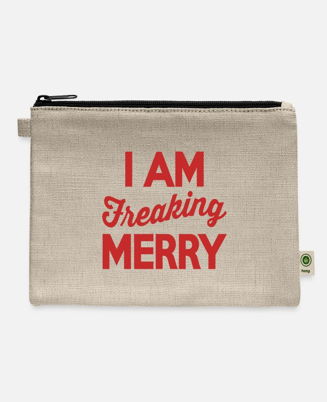 Graphics Bags & Backpacks - I Am Freaking Merry - Carry All Pouch natural