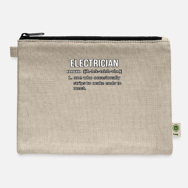 Funny Electrician Electrician Definition Funny Electrician - Carry All Pouch