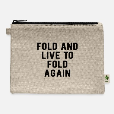 Las Vegas POKER: Fold and live to fold again - Carry All Pouch