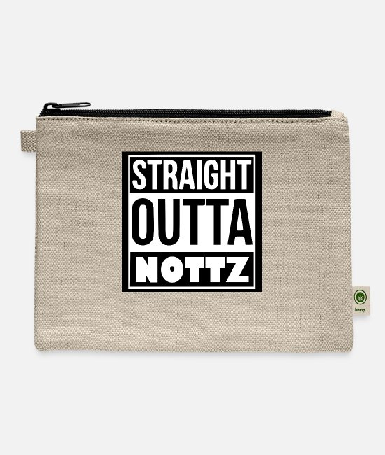 Nottingham Bags & Backpacks - Straight outta nottz - Carry All Pouch natural