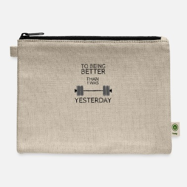 Weightlifting Fitness Gym design, To being better - Carry All Pouch