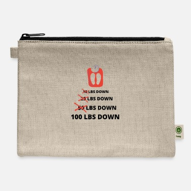 Funny Weight Loss, 100 Lbs Down, Lose Weight Worko - Carry All Pouch