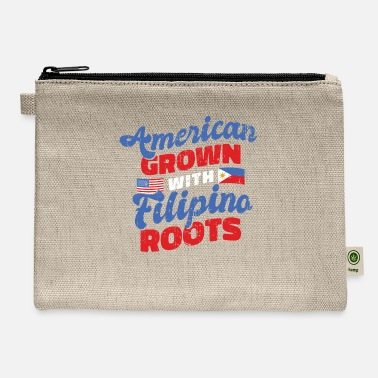 Filipino American grown with Filipino roots - Carry All Pouch