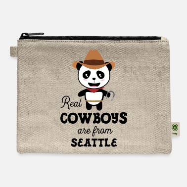Seattle Real Cowboys are from Seattle Gift - Carry All Pouch