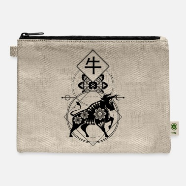 Monkeys Chinese, Zodiac, Ox, Astrology, Star sign, Stars - Carry All Pouch