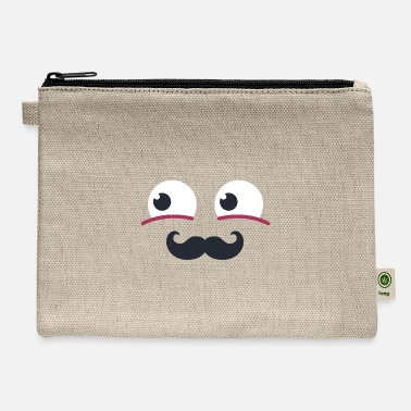 Cool-cute-stylish-mustaches Smiley Face 14 - Carry All Pouch