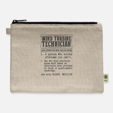 Turbine Wind Turbine Technician Definition Gift Mug - Carry All Pouch