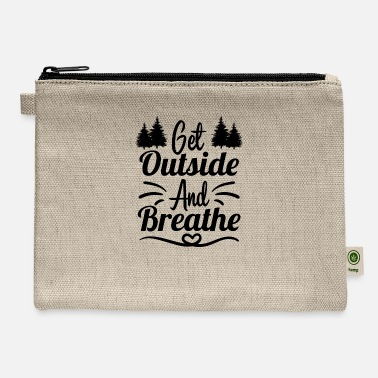 High School Graduate Get outside and breathe - Carry All Pouch