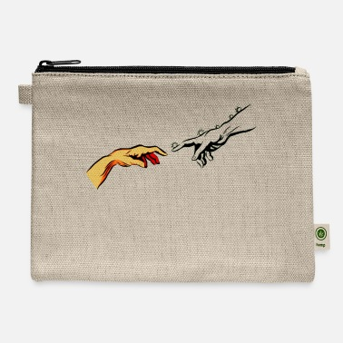 Touch Michelangelo Corona of Hands Touch Finger - Carry All Pouch