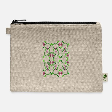 Tendril Pattern Flower tendril - Carry All Pouch