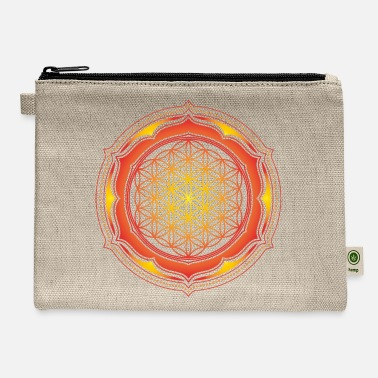 Life Energy Flower of Life, Energy Symbol, Sacred Geometry - Carry All Pouch