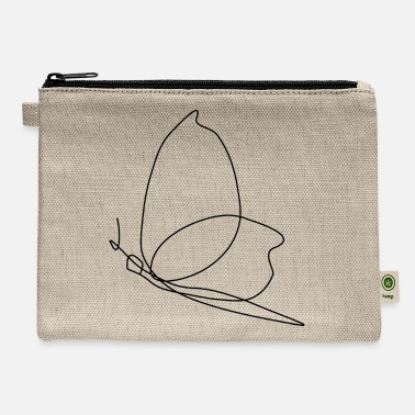 Minimalistic Butterfly Line Art - Carry All Pouch