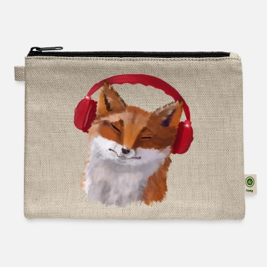 Fox in headphones - Carry All Pouch