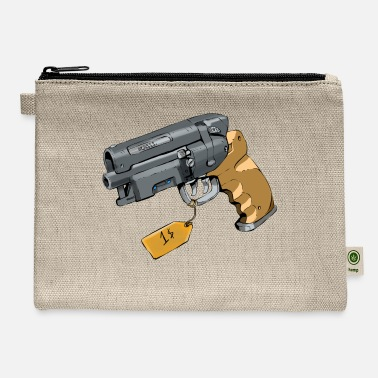 Blood Old School Vintage Retro Gun - Carry All Pouch