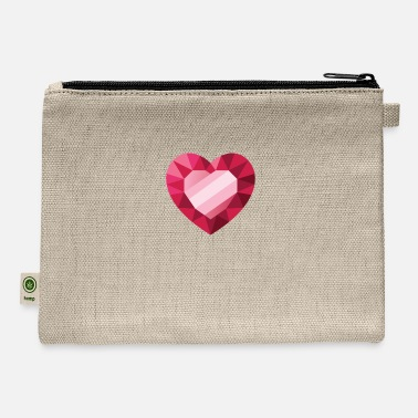 Pink red heart in heart design - Carry All Pouch