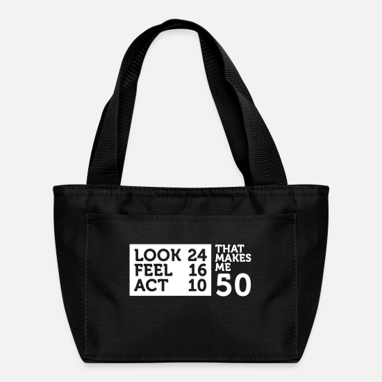Date Bags & Backpacks - I Am 50 Years Old,But My Heart Is Still Young! - Lunch Box black