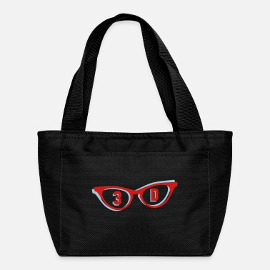 3d 3D glasses in 3D - Lunch Bag