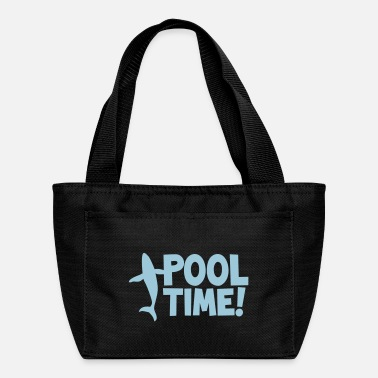 pool time! with a whale - Lunch Bag