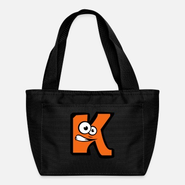 K letter name write cartoon comic face funny alive - Lunch Box