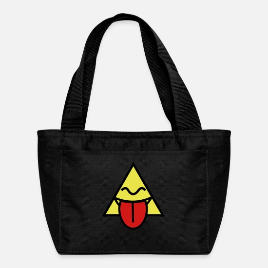 Pussy Bags & Backpacks - triangle with tongue - Lunch Bag black