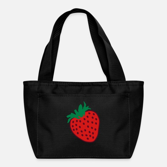 Love Bags & Backpacks - Strawberry Love - Lunch Bag black