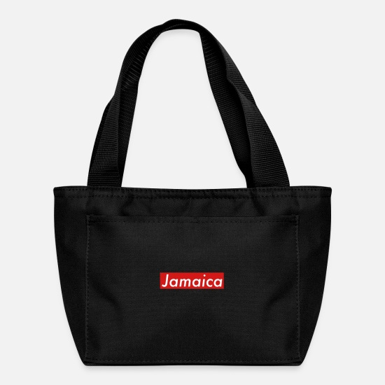 Rasta Bags & Backpacks - Jamaica box red - Lunch Bag black