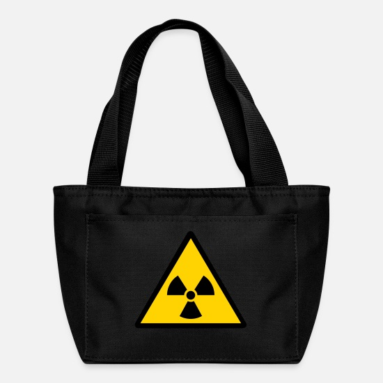 Energy Bags & Backpacks - nuclear warning - Lunch Bag black
