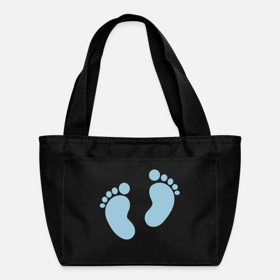 Baby Bags & Backpacks - Baby feet - Lunch Bag black