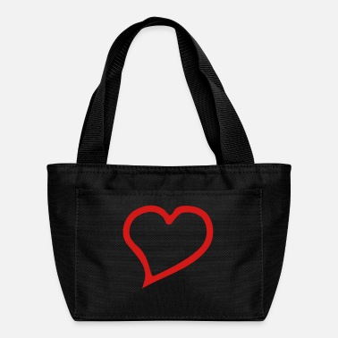 Outline heart outline - Lunch Bag
